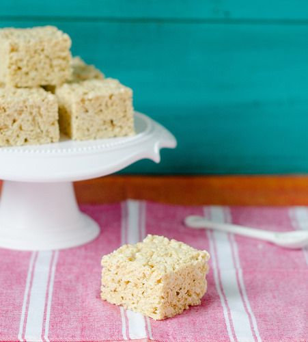 Salted Brown Butter Rice Krispies Treats | to eat | Pinterest