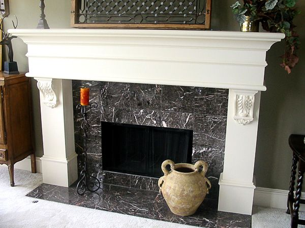 mantel with corbels fireplace ideas pinterest