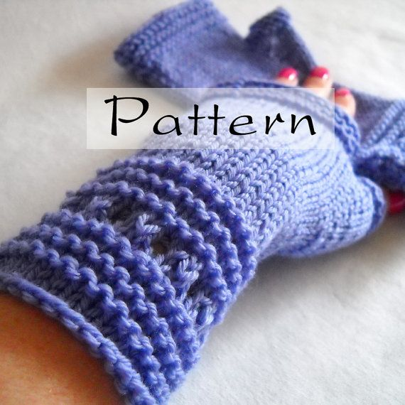 Knitting Pattern Easy Fingerless Gloves : Pattern - Easy Elegant Hand Knit Fingerless Gloves