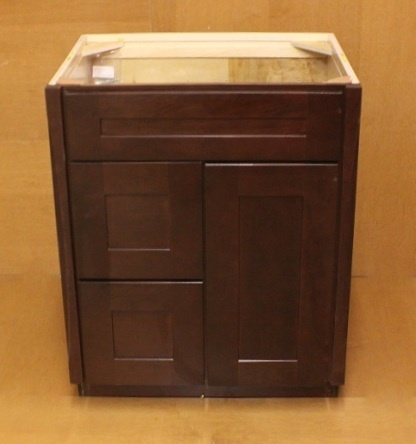 kraftmaid cabernet cherry bathroom vanity sink base cabinet set 27
