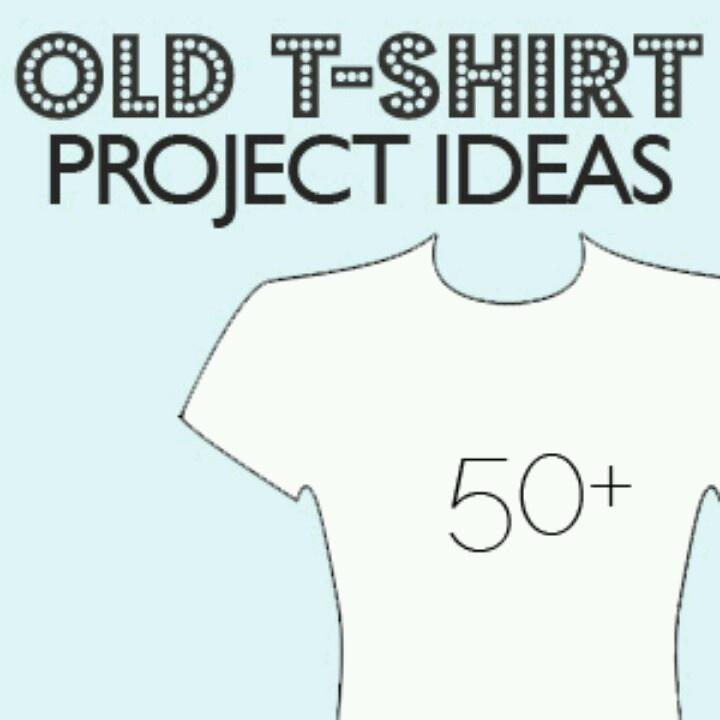 T Shirt Crafts Diy Pinterest