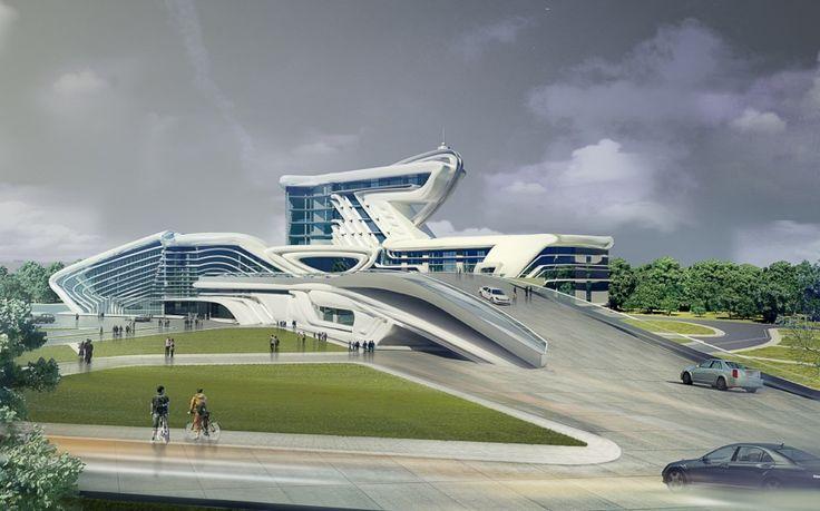 Futuristic architecture skynet pinterest for Design development architecture