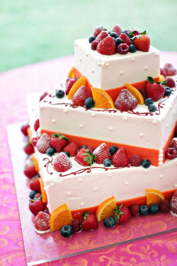 Cake Decorated With Fruits Pinterest : Fruit decorated wedding cake food Pinterest