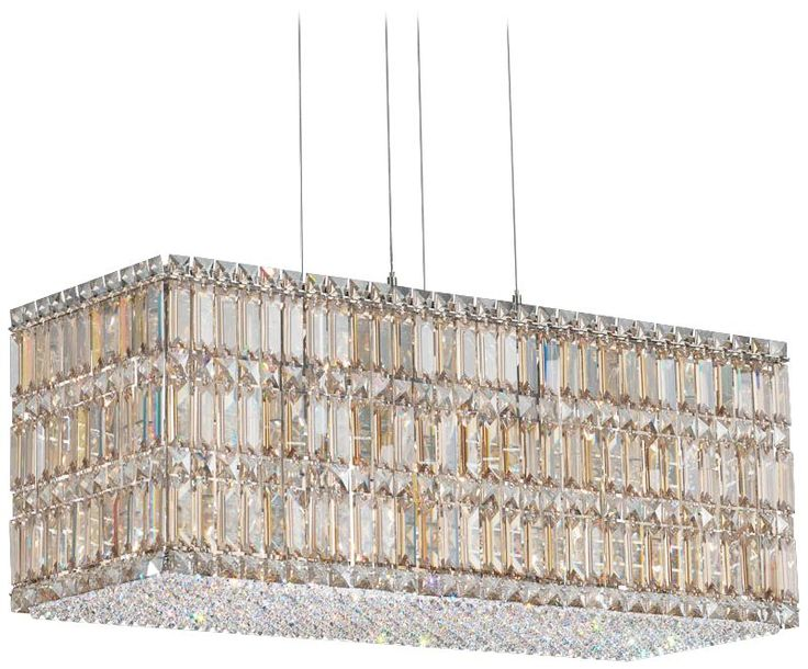 "Schonbek Quantum Collection 29 1/2"" Block Crystal Pendant - EuroStyleLighting.com"