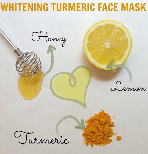 turmeric mask   Turmeric Lemon Honey Face Mask