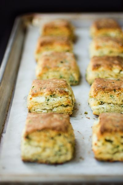 Flaky Goat Cheese Chive Biscuits | Food & Drink | Pinterest