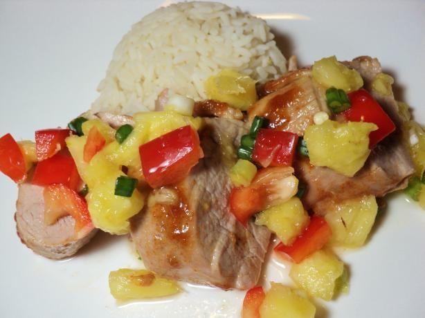 ... one tonight!! Pork Tenderloin With Fresh Pineapple Salsa. Photo by Nif