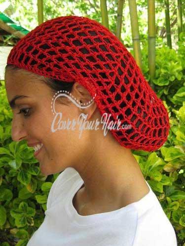 Crochet Hair Net Snood : Hair Net Snood Santa Claus Pinterest