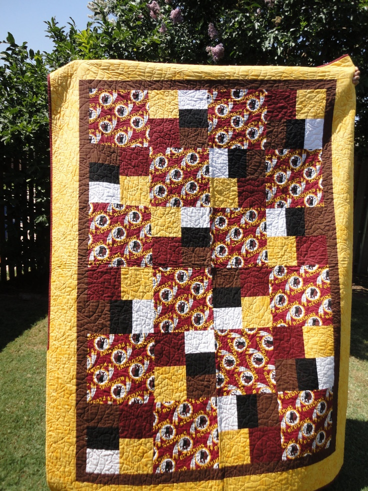 Quilt Patterns For College Students : Pin by Gayle Millet on College/NFL Quilts Pinterest