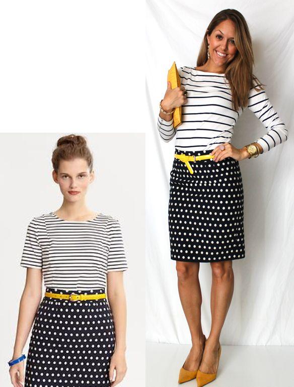 stripes+ polka dots
