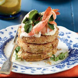 Fried Green Tomatoes With Shrimp Remoulade. Good Gracious!