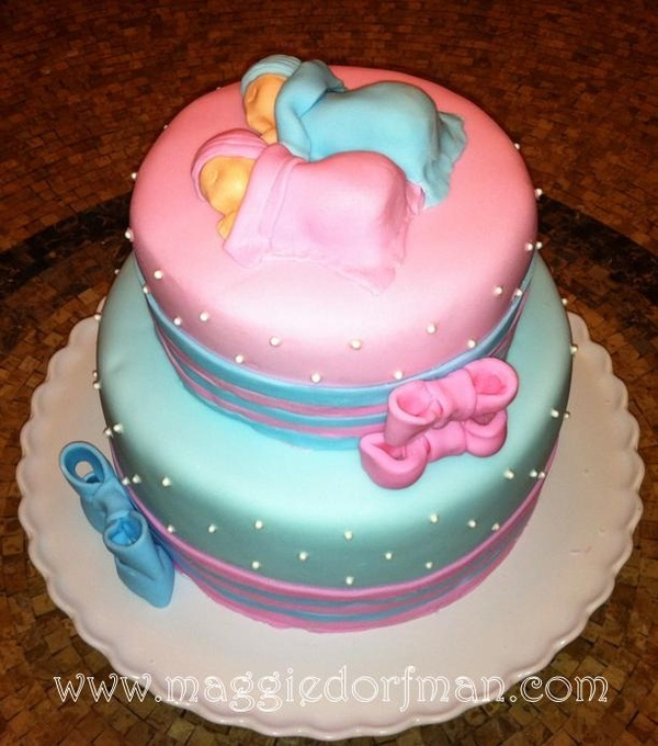 twins baby shower cake pink and blue twinkie shower pinterest