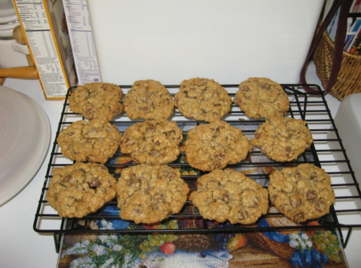 Oatmeal Double Chocolate Chip Cookies   Recipes   Pinterest