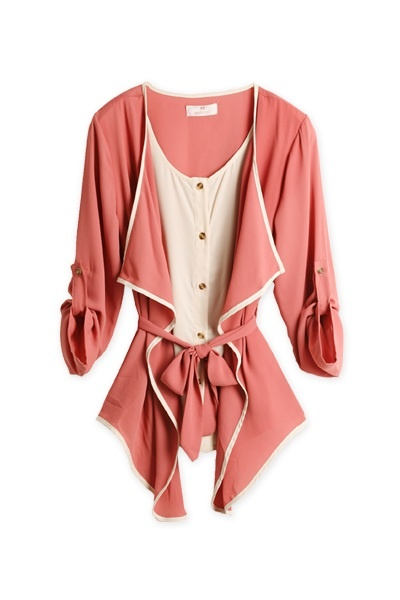 Cute draping! This is actually two pieces. We'd love to pair it with skinny jeans.