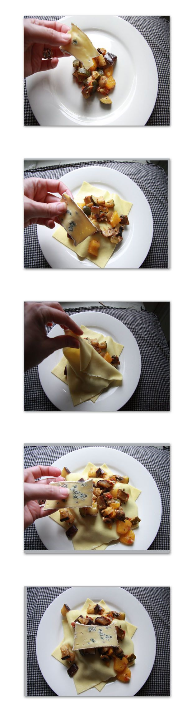 Summer Lasagne: layers of fresh pasta, ratatouille and creamy blue ...