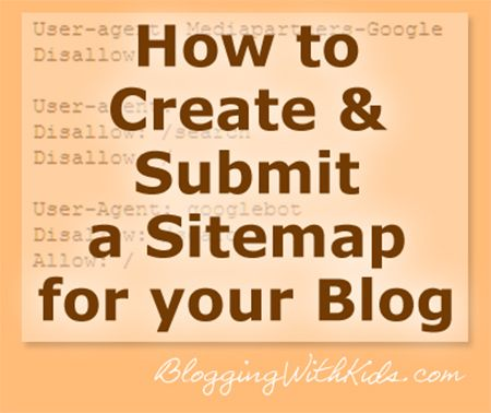 Create a sitemap to submit to google