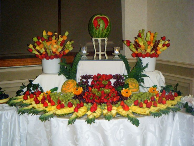 Fruit Table Designed Tables Pictures Weddings Foods