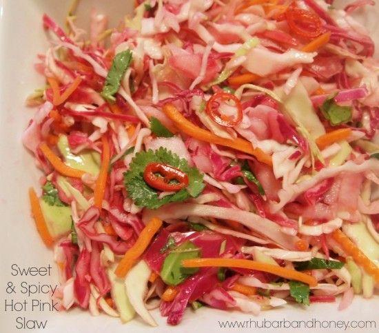 Sweet & Spicy Hot Pink Slaw | Food - Veggies | Pinterest