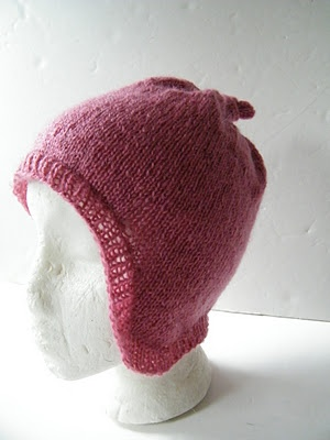 Knit ear flap hat free pattern.