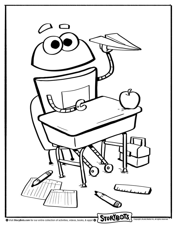 Coloring Pages Of Paper Airplanes : Coloring sheet paper airplane back to school activity