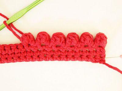 crochet bobble edging