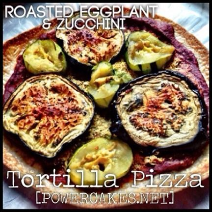 Roasted Eggplant & Zucchini Tortilla Pizza #plantPOWER #EatClean ...
