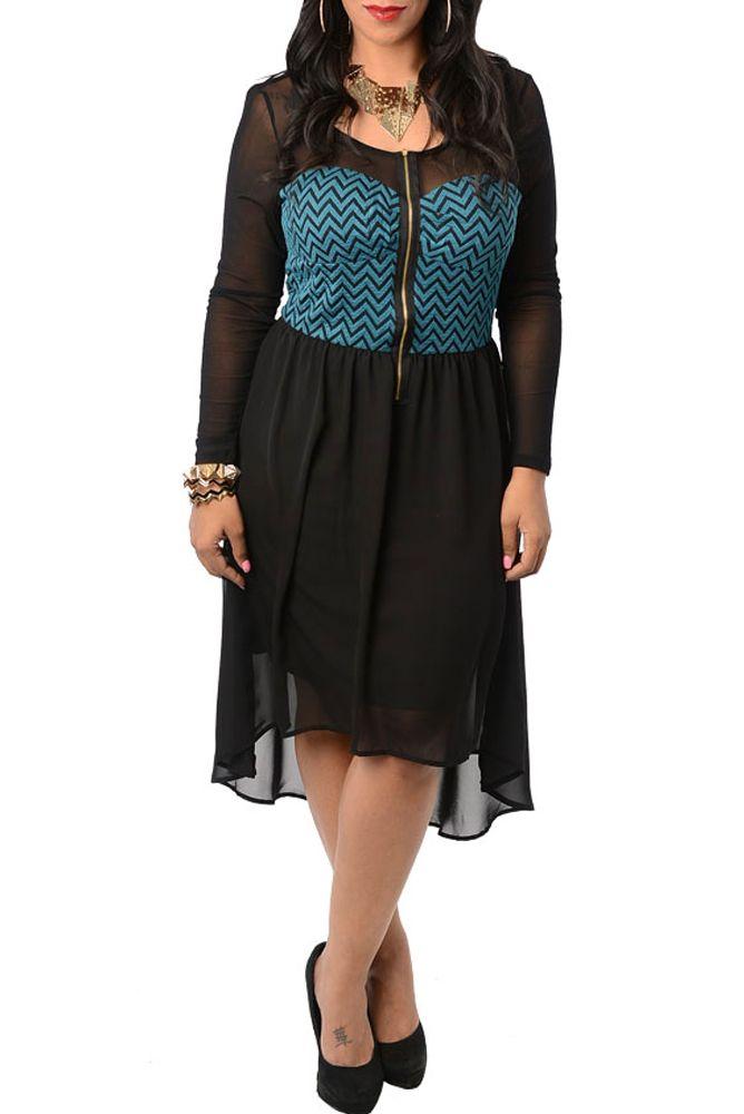 plus length clothes royal blue