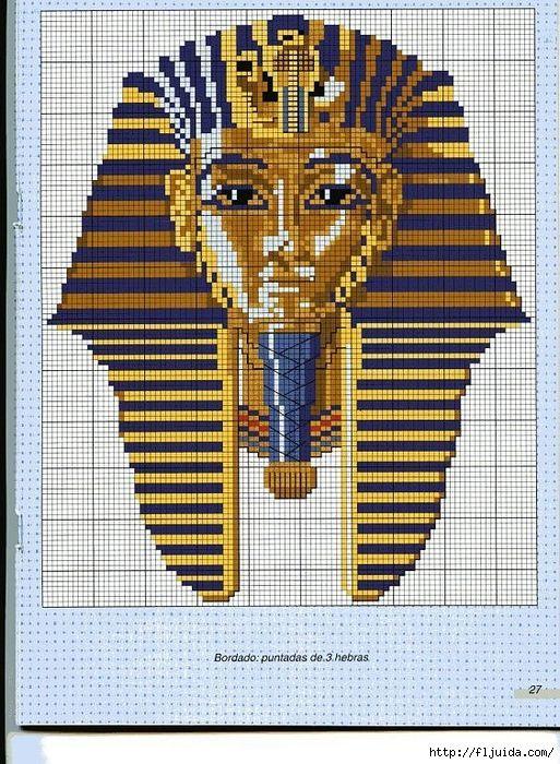 Египет схема вышивки крестом 22