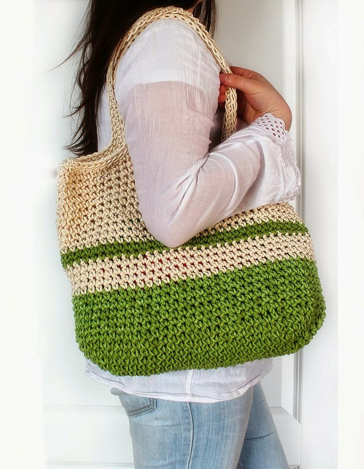 Crochet Duffle Bag : crochet tote bag Crochet Pinterest