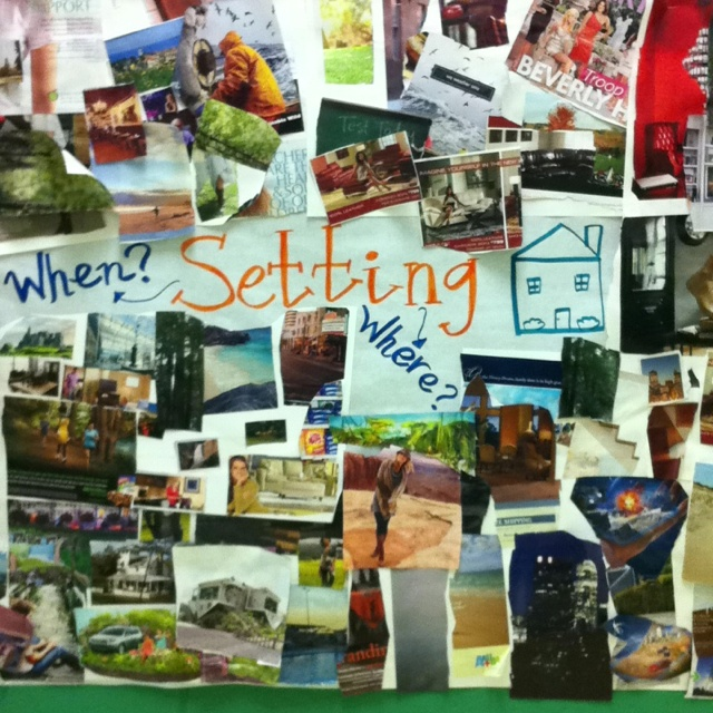 Setting Collage by @Jane Ferguson, ESL Teacher at Lake Myra Elementary