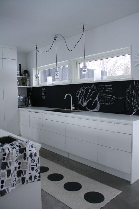 chalkboard backsplash i like pinterest
