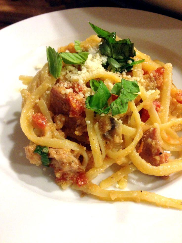 Parmesan, Lemon & Sausage Linguine! | Recipes | Pinterest