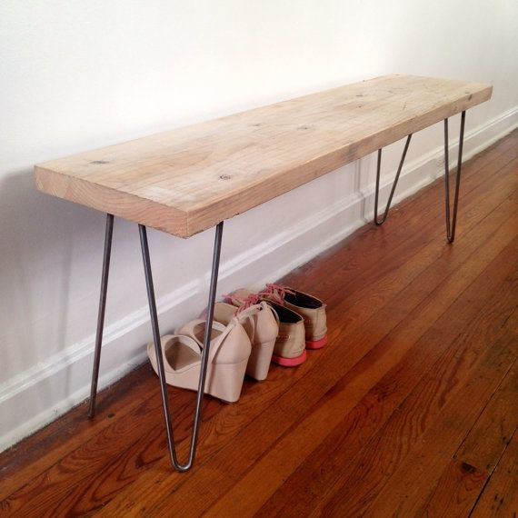 Hutchinson Reclaimed Wood Bench Reclaimed Wood And Hairpin Legs