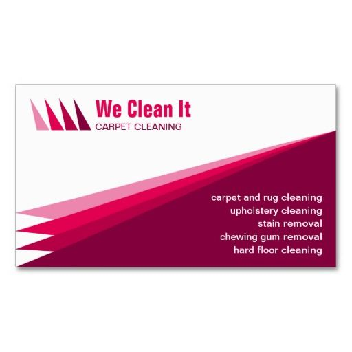 Carpet Cleaning Service Business Card: pinterest.com/pin/394346511093471506
