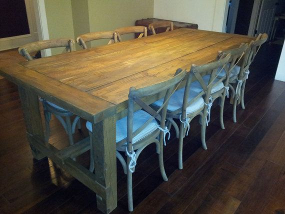 Reclaimed Rustic Pine Dining Table By Maldorustic On Etsy