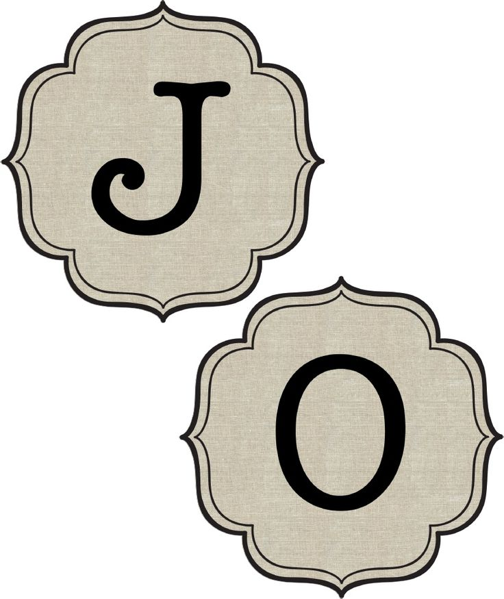 "free printable ""JOY"" banner letters 