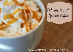 Warm Vanilla Spiced Cider | Winter Nights/Comfie Foods | Pinterest