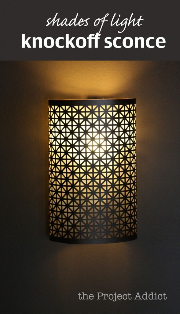 Pinterest Diy Wall Sconces : shades light knockoff sconce DIY, Craft, Color, Paint Pinterest