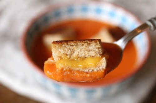 tomato soup & grilled cheese croutons this is the best tomato soup ...
