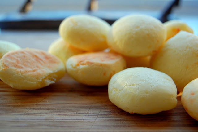 pao de queijo - brazilian cheese bread...crunchy on the outside, soft ...