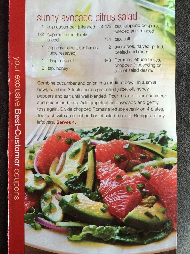 Sunny Avocado Citrus Salad | Recipes to Try | Pinterest