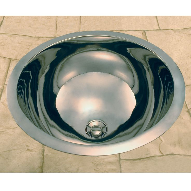 Extra Deep Round Copper Sink with Nickel Plating - 13