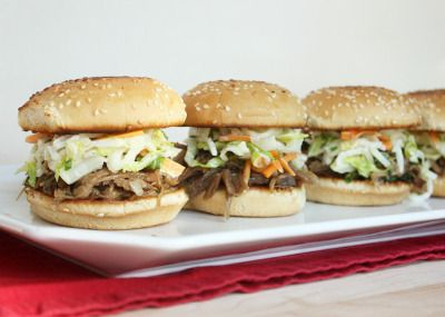 Duck Confit Sliders with Asian Slaw | HORS D' OEUVRES | Pinterest