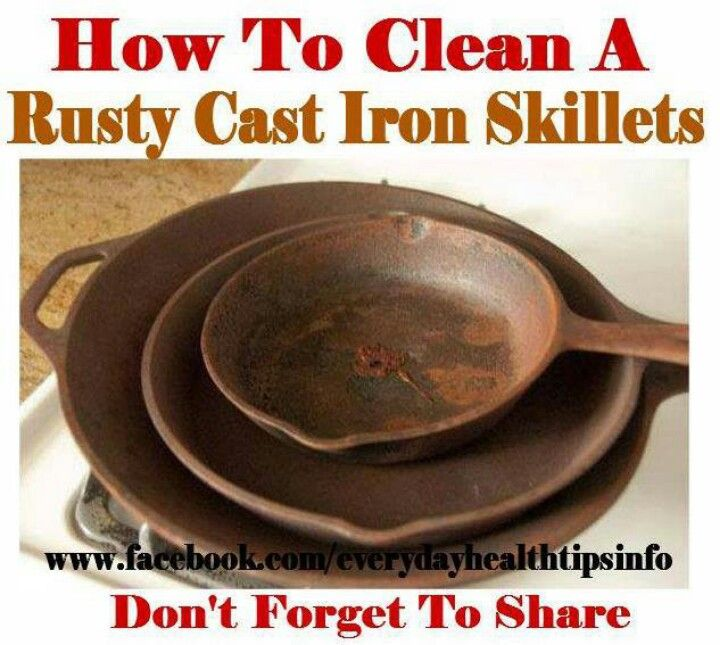 cleaning cast iron pans cleaning tips pinterest. Black Bedroom Furniture Sets. Home Design Ideas