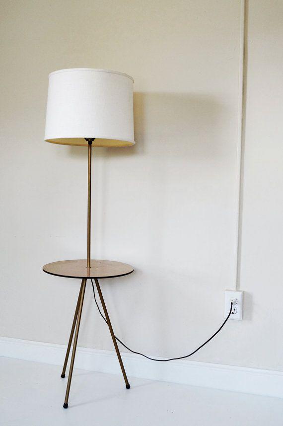 mid century modern tripod base floor lamp by spheres on etsy. Black Bedroom Furniture Sets. Home Design Ideas