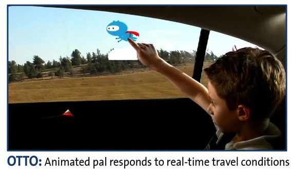 Interactive windows in cars