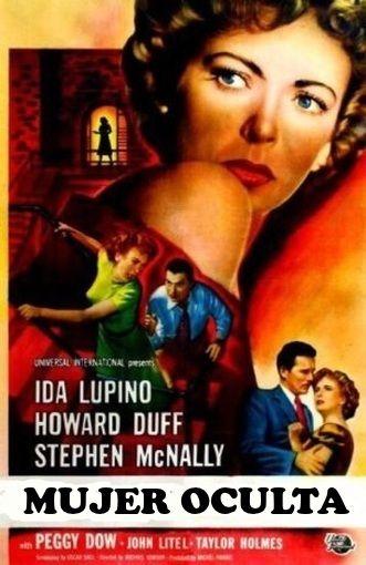 Cartel de la película Mujer Oculta - Woman in Hiding - (1950)
