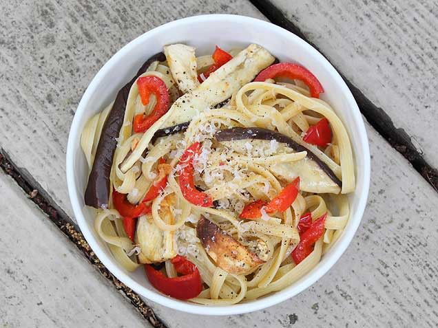 Roasted Eggplant Pasta: Crimson cherry peppers bring sweetness to ...