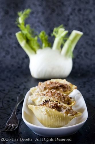 Baked Shells with Rosemary Fennel Cream