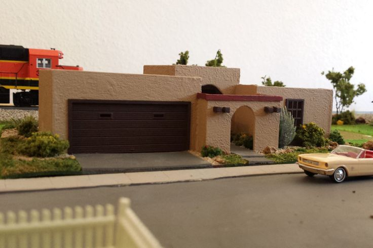 Ho Scale Adobe Southwestern Style Stucco Home House